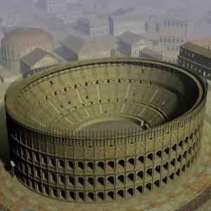 Recreación 3D del Coliseo de Roma