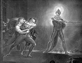 Hamlet y el fantasma de su padre. Henry Fuseli