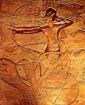 Ramsés II en la batalla de Kadesh.