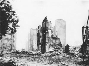 Guernica tras el bombardeo