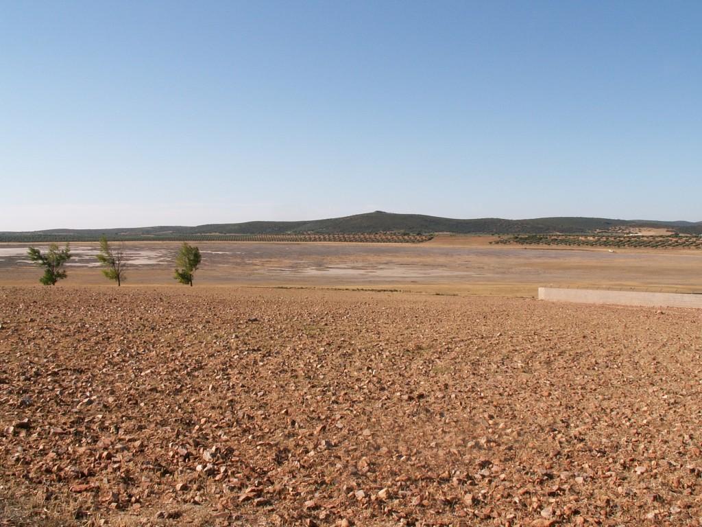 Laguna Grande (Malagón), sitio que Diego de Malagón visita en dos ocasiones. Ahora se adivina su existencia pero no tiene agua.