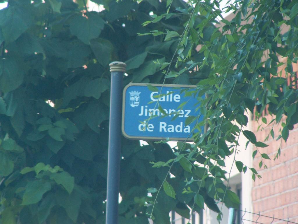 Calle dedicada al arzobispo Jiménez de Rada en Malagón (Ciudad Real)