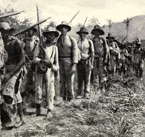 Soldados cubanos en la guerra de 1898. Foto tomada de wikipedia