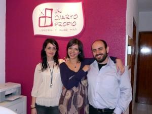 De izda a dcha: Cristina, Beatriz y Raul