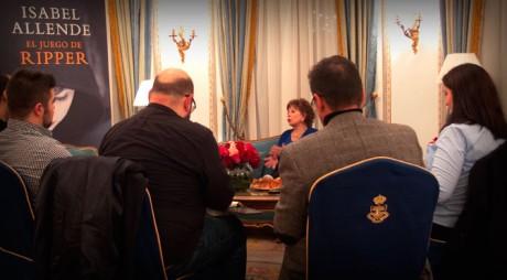 Un momento de la entrevista a Isabel Allende