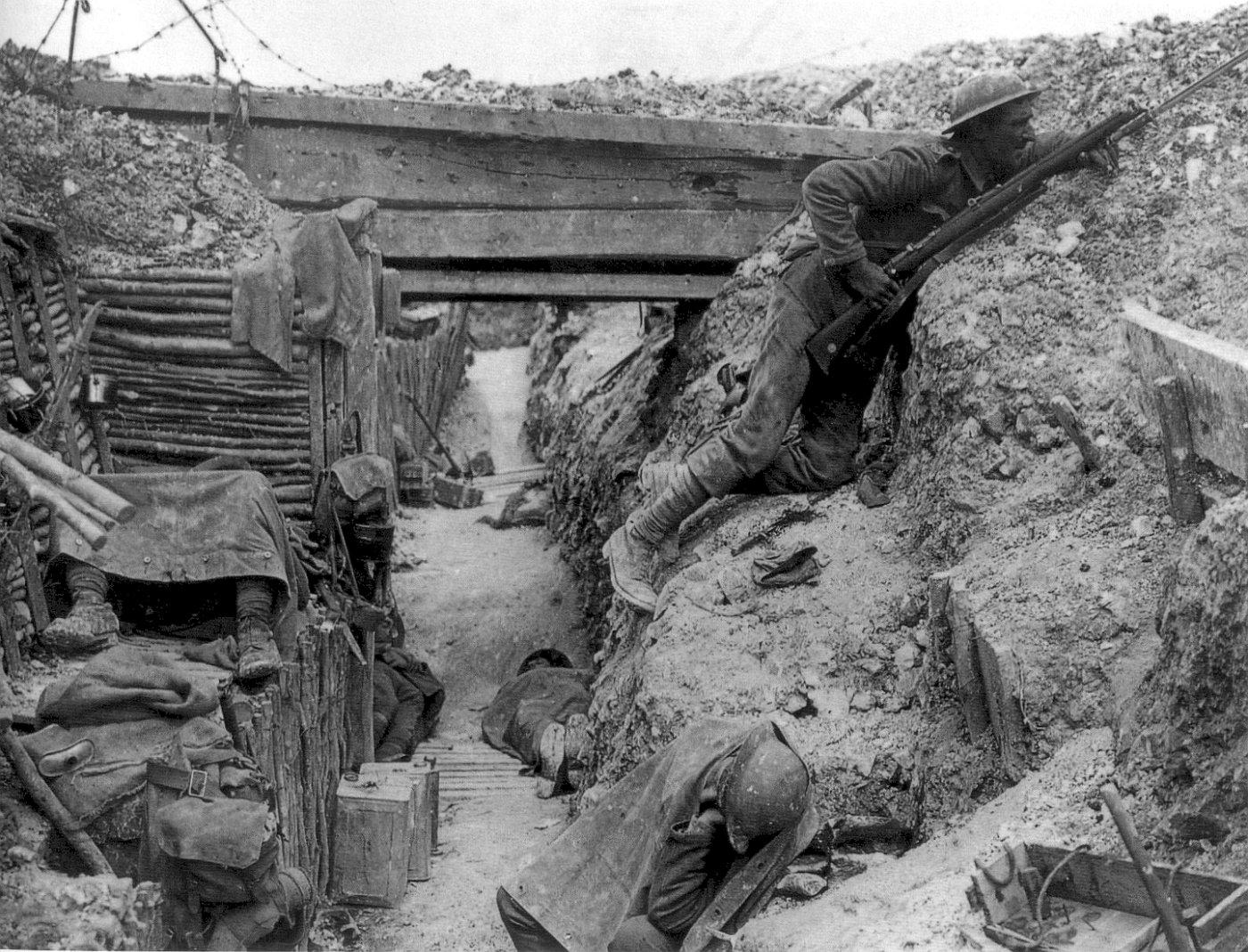 Regimiento Cheshire en las trincheras de Somme, 1916