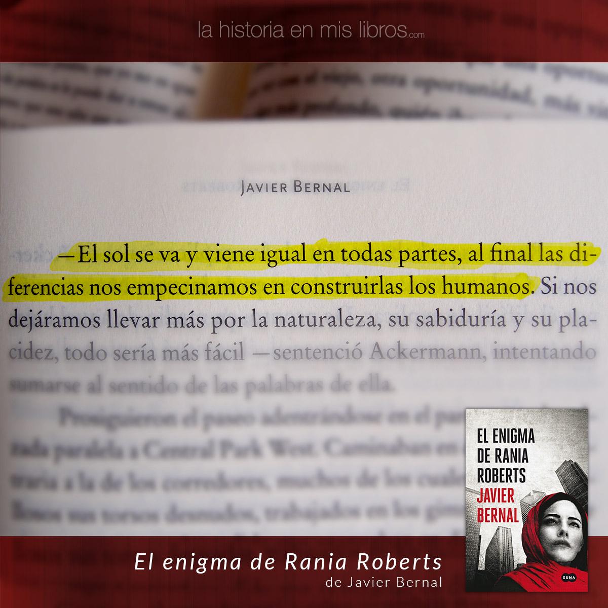 El enigma de Rania Roberts de Javier Bernal