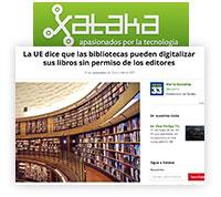 UE Bibliotecas: pueden digitalizar libros