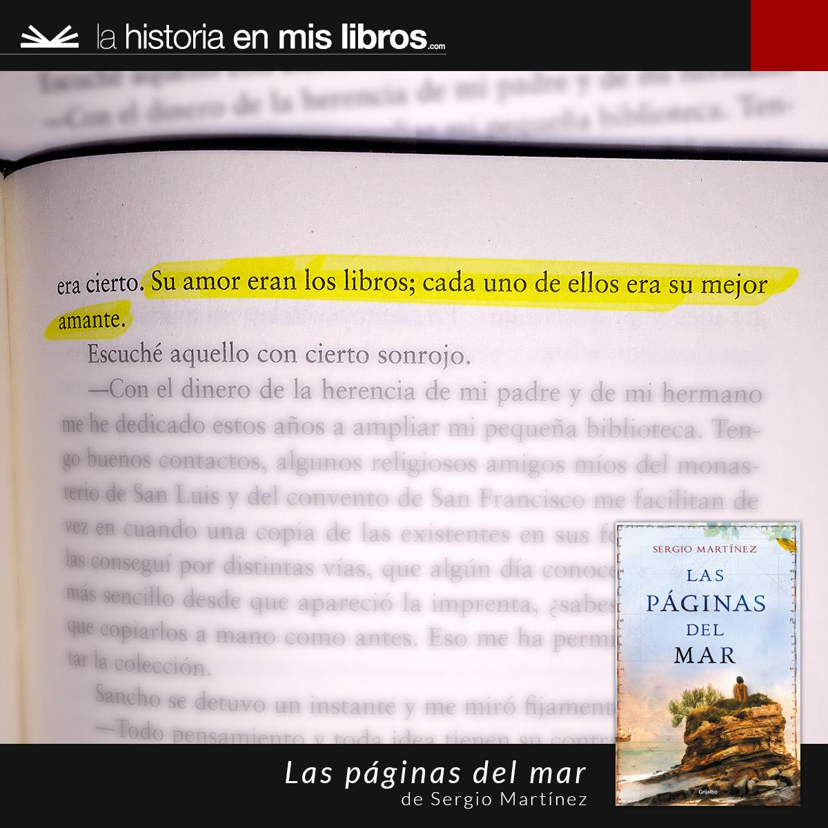 Las páginas del mar de Sergio Martínez.