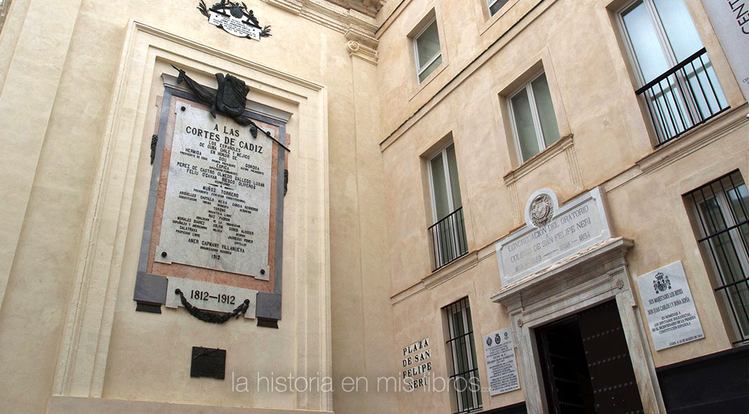 Oratorio San Felipe Neri, sede de las Cortes de Cádiz de 1812 y actualmente museo.