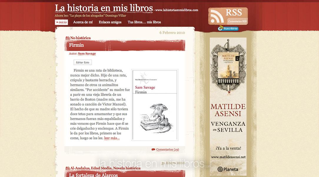 """Así lucía """"La historia en mis libros"""" en 2010."""
