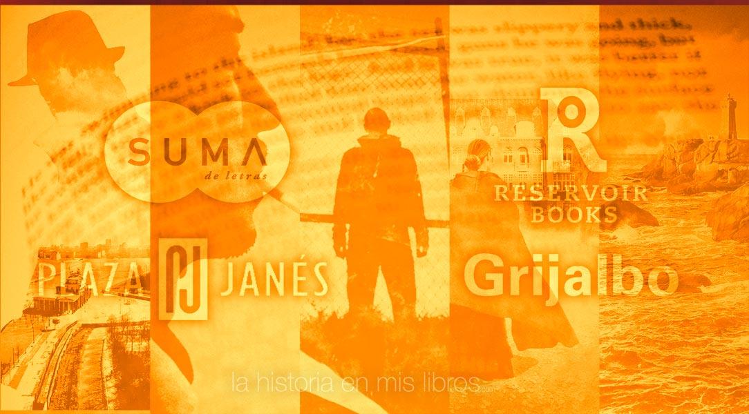Novedades Editoriales. Octubre 2018. Suma, Reservoir Books, Plaza & Janés y Grijalbo