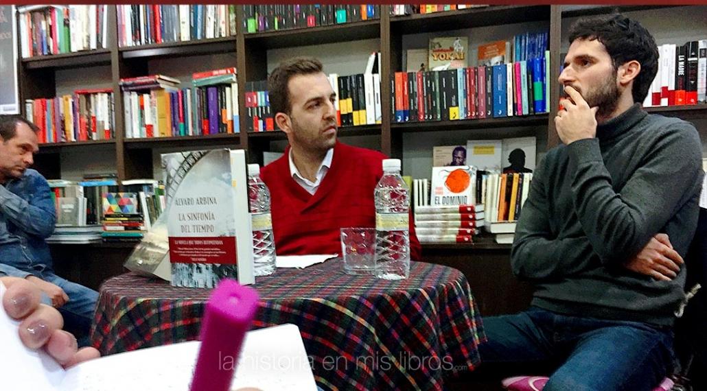 Presentación de «La sinfonía del tiempo» de Álvaro Arbina, con Pedro P. Uceda