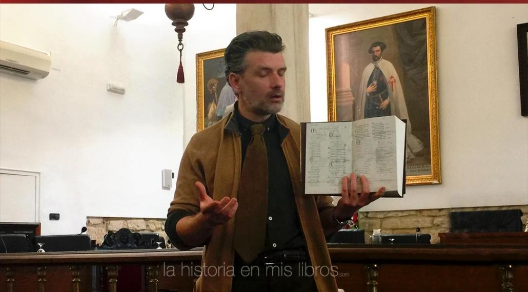 Francisco Narla en una presentación muy interesante sobre su novela «Laín, el bastardo»