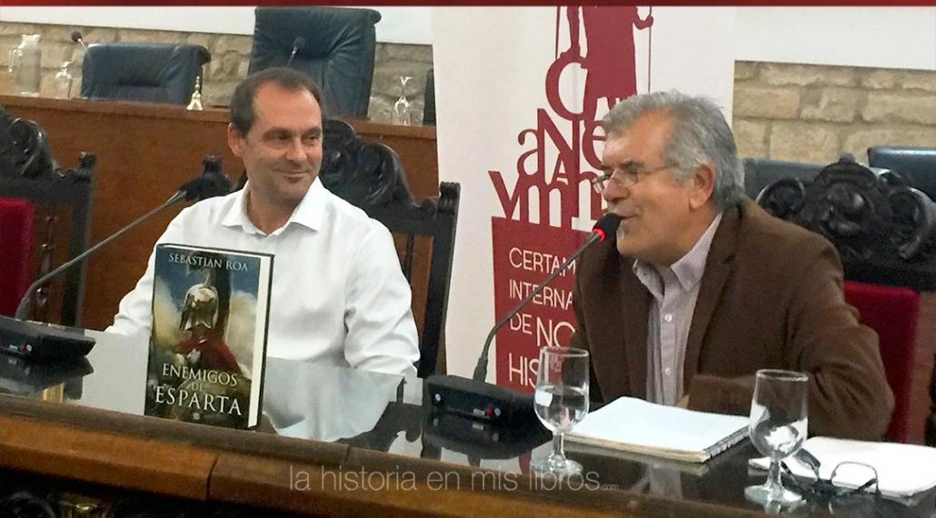 Un instante de la presentación de «Enemigos de Esparta» del gran Sebastián Roa.