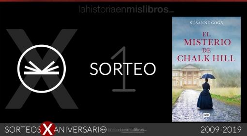 Sorteo 1, X Aniversario - El misterio de Chalk Hill, de Susanne Goga