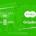 Novedades Editoriales. Abril 2019. Alfaguara, Suma de Letras, Plaza&Janés y Grijalbo