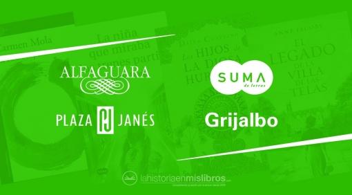 Novedades Editoriales. Abril 2019. Alfaguara, Suma de Letras, Plaza & Janés y Grijalbo