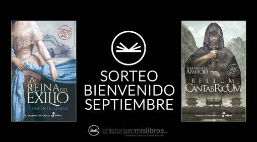 Sorteo Bienvenido Septiembre, La Historia en mis Libros